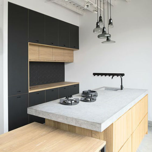 Mat houten keuken