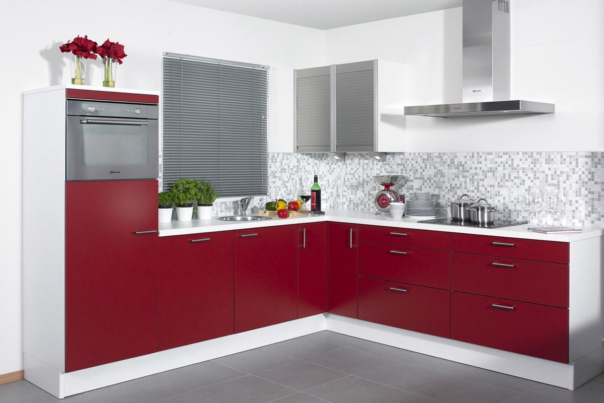 Advies Keuken Kopen : Rode keuken kopen