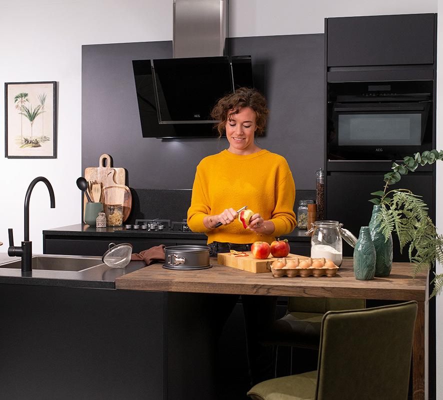 Zwarte kleur keuken