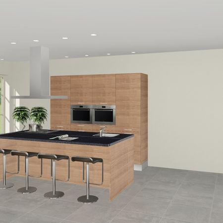 3D keuken Saale eilandkeuken