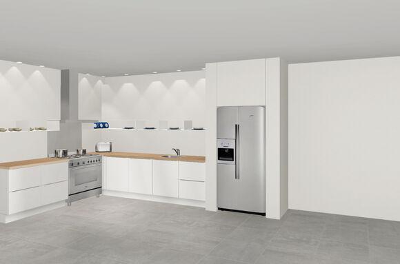 3D keuken Bensheim hoekkeuken