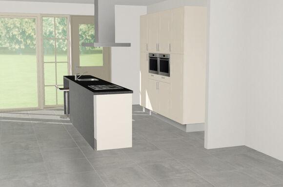 3D keuken Riesling eilandkeuken