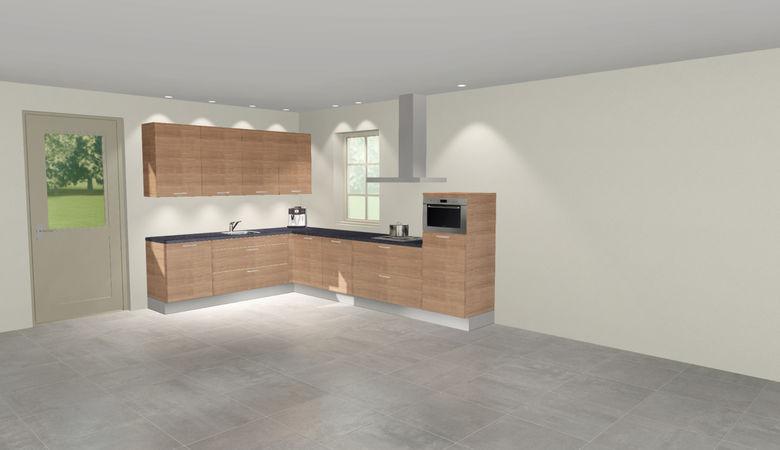 3D keuken Saale hoekkeuken