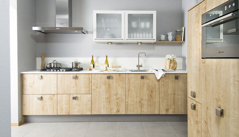 Lichte houten keuken