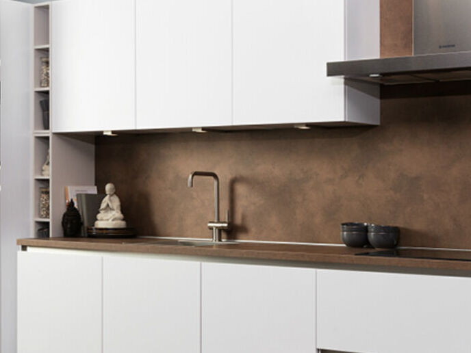 achterwand keuken bruin