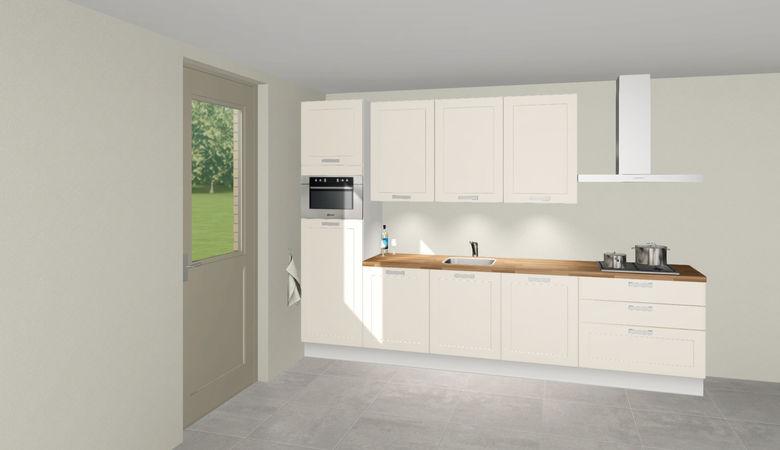 3D keuken Koblenz rechte keuken