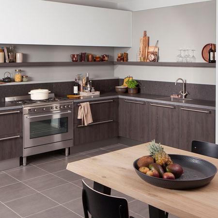 Industriële houten keuken