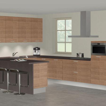 3D keuken Saale u-keuken