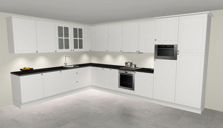 3D keuken Koblenz hoekkeuken