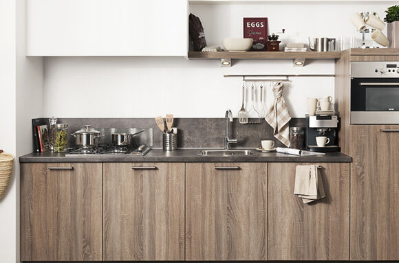 Saale rechte houten keuken