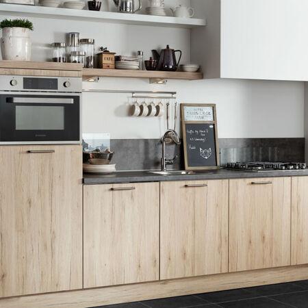 rechte keuken houtlook Saale