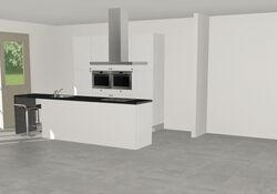 3D keuken Koblenz eilandkeuken