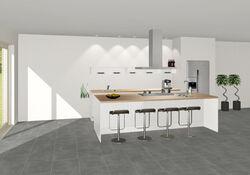 3D keuken Bensheim eilandkeuken