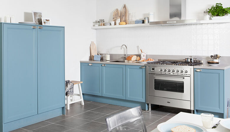 Blauwe keuken