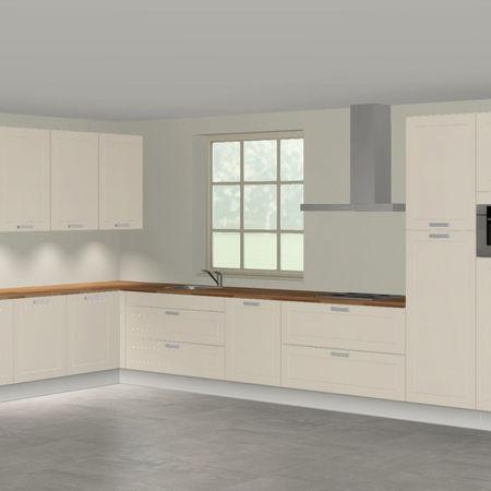 3D keuken Riesling hoekkeuken