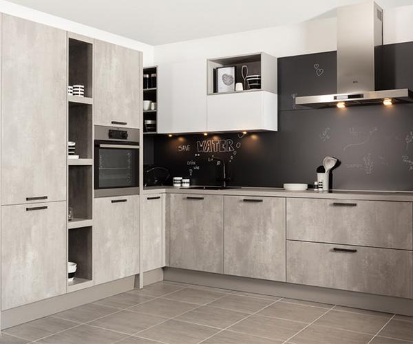 Betonlook keukenkastjes