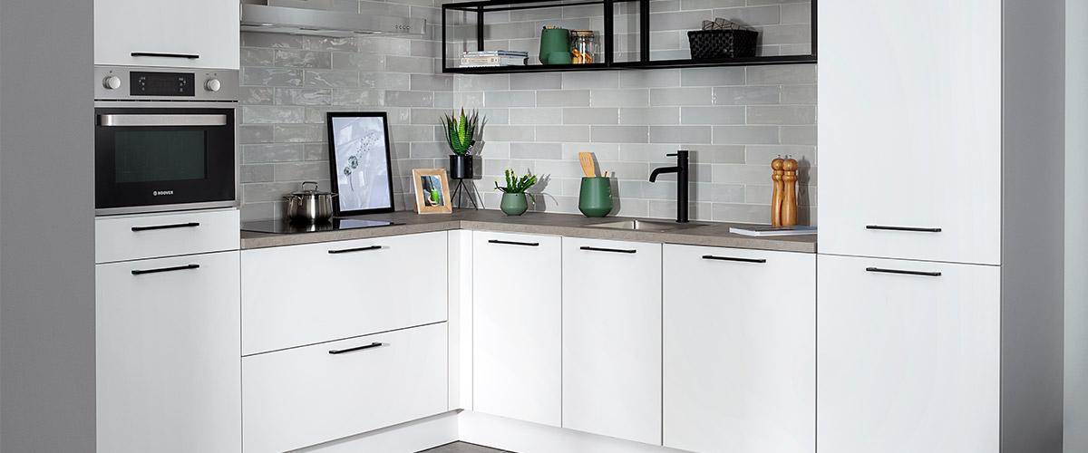 Keuken met kunststof keukenblad