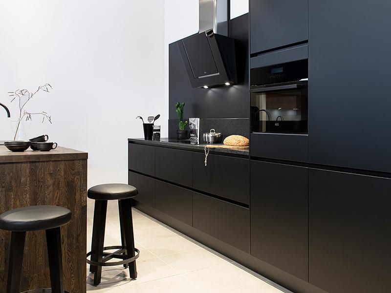 Zwart in de keuken